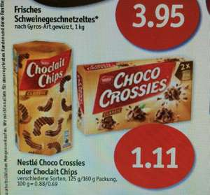 Sky-Supermärkte(Coop) Nestlé Choco Crossies od. Choclait Chips für 1,11€ statt 1,99€ (Ab Do 26.02- Sa. 28.2)