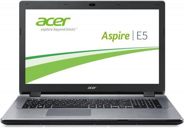 Acer Aspire E5-771-395N 43,9 cm (17,3 Zoll) Notebook (Intel Core i3-4005U, 1,7GHz, 4GB RAM, 500GB HDD, Intel HD 4400, DVD, kein Betriebssystem) für 329€