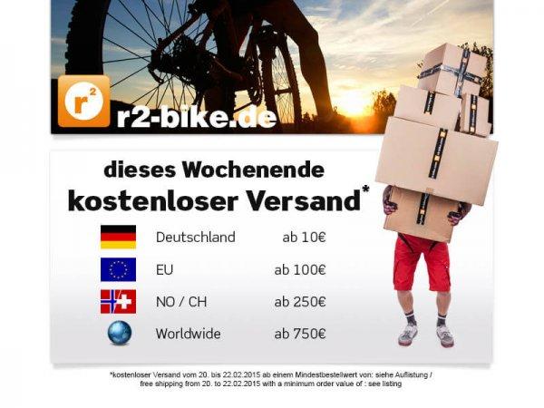 r2-bike liefert dieses Wochenende ab 10EUR MBW kostenfrei