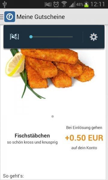 [Reebate] 0,50 EUR auf Fischstäbchen (alle Sorten) bis 8.3.