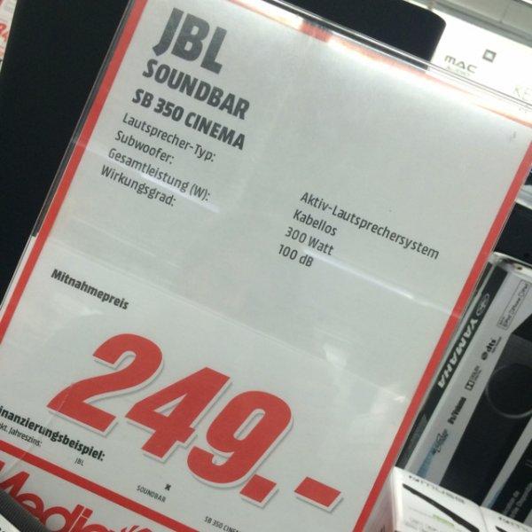 [lokal]MediaMarkt Nürnberg - JBL SB 350 Cinema - SoundBar 249,- statt 329,-