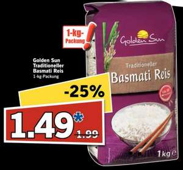 [Lidl bundesweit] Basmati-Reis für 1,49 €/kg am 28.2.