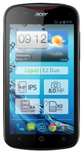 Acer Liquid V370 E2 Schwarz -B Ware- 4,5 Zoll, Dual-Sim, 1,2GHz Quadcore Prozessor, 1GB RAM, 8 MPX Cam 60€ @ebay (we-sell-more)