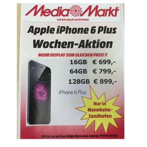 Apple iPhone 6 Plus € 100,- billiger im Media Markt