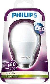[Amazon.de]  Philips LED-Lampe 9,5 W, E27-Sockel, 2700 Kelvin, 806 Lumen - warmweiß, ersetzt 60 W; VSKfrei!