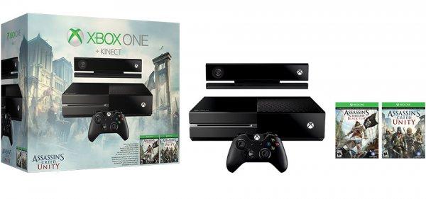 [HoH] MS Xbox One mit Kinect und AC: Black Flag + Unity für 386€