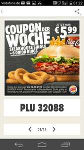 Burger King Steakhouse Menü + Onion Rings