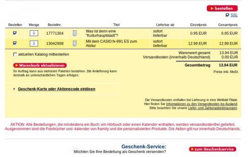 Casio FX-991 ES für 13.94€