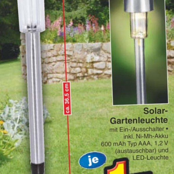 Solar Gartenleuchte (LED)