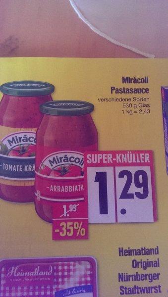 LOKAL Edeka + Marktkauf Nürnberg - Miracoli Pastasauce 530 g Glas für 0,29 Euro