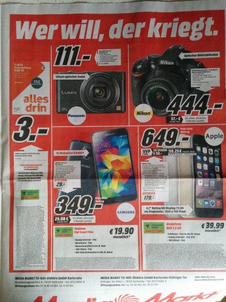 [Media Markt Karlsruhe - lokal] Samsung Galaxy S5 für 349 €
