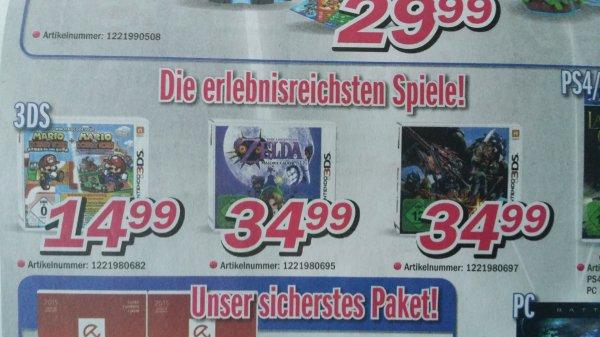 Raum Cloppenburg 3DS Spiele Zelda Majora's Mask und Monster Hunter 4 Ultimate 34.99€