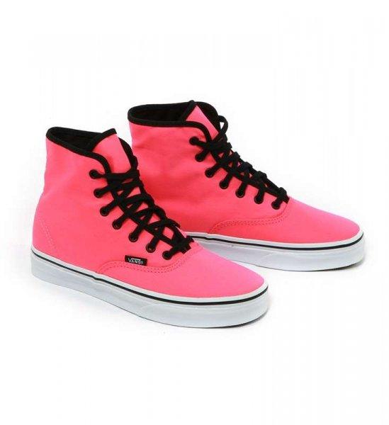 Für die Ladies: Vans Sneakers Authentic Hi Neonpink (Szene Shop) Nur noch Gr. 40
