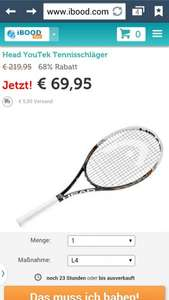 [IBOOD] Head Graphene YouTek Speed MP 16/19 Tennisschläger für 75,90 € statt 98,90 €
