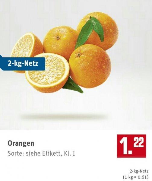 [Rewe - bundesweit] 2Kg Netz spanische Orangen
