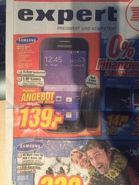 [Expert] (lokal) Samsung Galaxy Ace 4 SM-G 357 FZ in weiß und schwarz 139€