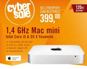 Apple Mac mini 1,4 GHz Intel Core i5 (MGEM2D/A) für 399 Euro @Cyberport