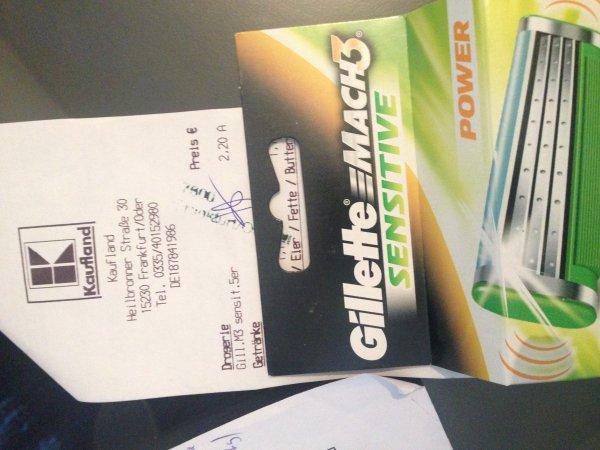 """""""Gilette Mach 3 Sensitive""""  5 Klingen für 2.20€ statt 12.99€ bei Kaufland (evtl. Lokal?)"""