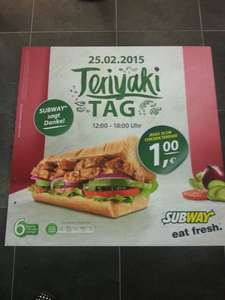 [LOKAL] Teriyaki Tag am 25.02.2015 in Göppingen - 15cm Chick Teriyaki für 1€
