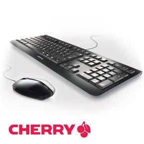 CHERRY KC 1000 GENTIX Black Edition Maus-Tastatur Set (3 Tasten USB-Maus mit 1000 dpi und ultraflacher USB-Tastatur) @NBB