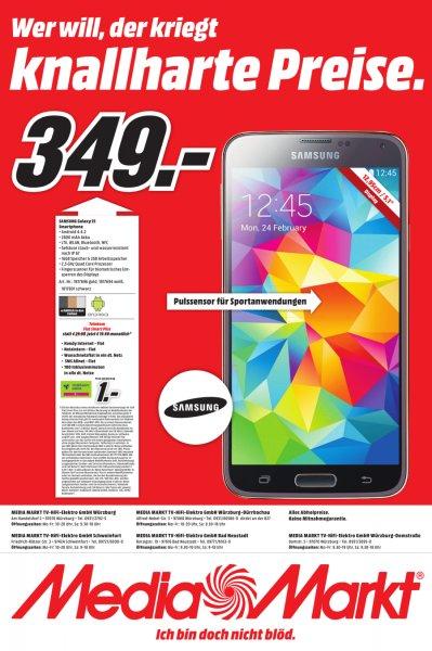 [Media Märkte Würzburg/Schweinfurt/Bad Neustadt - lokal] Samsung Galaxy S5 für 349 €