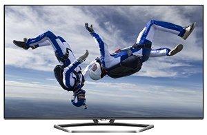 TCL U55S7606DS 139 cm (55 Zoll) 3D LED-Backlight-Fernseher (Ultra HD, 200Hz CMI, DVB-T2/C/S2, CI+, 3x HDMI, 3x USB 2.0, Smart TV, HbbTV, WLAN) inkl. 2x Aktiv-3D-Brille silber/schwarz [Energieklasse A] für 699€ (anstatt 912,96)