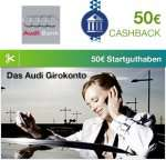 Finance Special bei Qipu: Audi Bank mit 50€ Cashback + 50€ Startguthaben für dein kostenloses Girkonto
