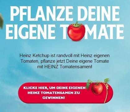 [Facebook] Heinz Ketchup Tomatensamen kostenlos!