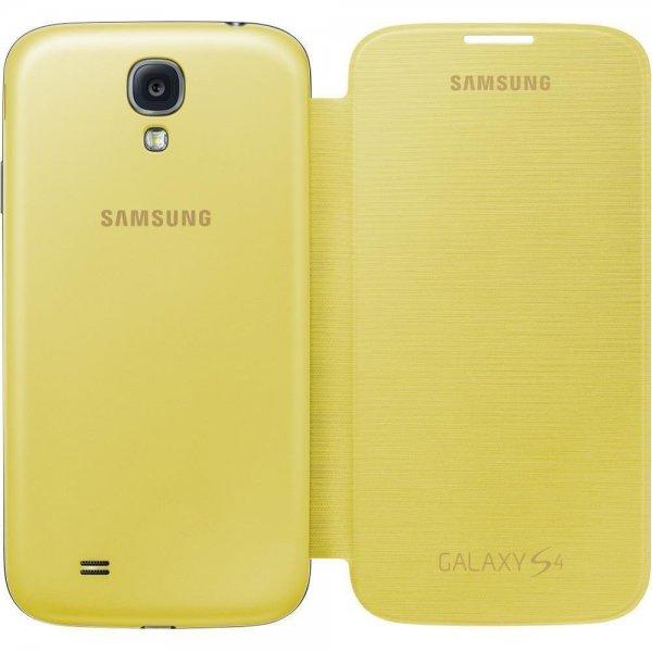 Samsung Original EF-FI950BYEGWW Flip Cover (kompatibel mit Galaxy S4) in gelb