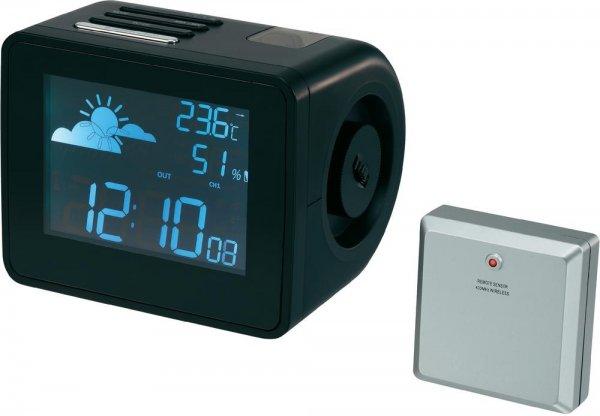 [Voelkner] Funk-Projektionsuhr mit Wetterforecast für 24,99€ inkl.VSK (30% unter idealo)