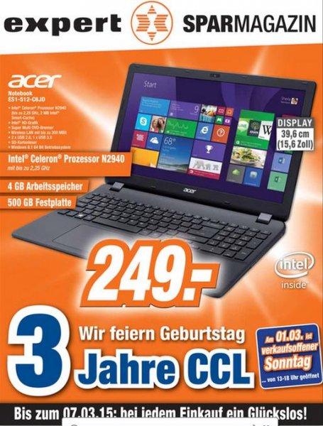 15 Zoll Acer Notebook bei Expert in *Langenhagen* für 249€