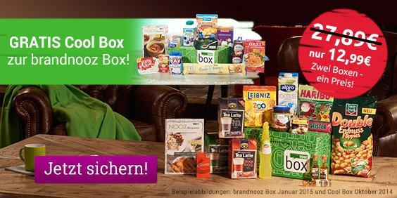 Brandnooz Monats Box + Gratis Cool Box nur 12,99 statt 27,89