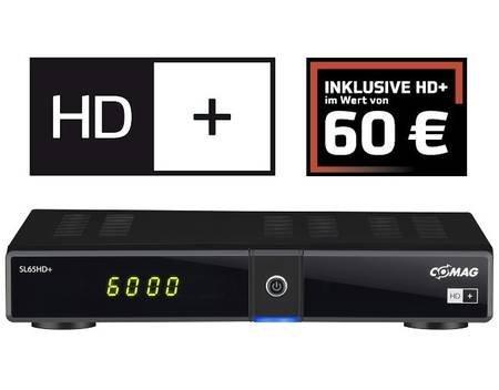 COMAG SL 65 HD+, Digitaler HD Satelliten-Receiver, PVR-Funktion über USB, inkl. HD plus Karte  für 74,99 €  @ MeinPaket