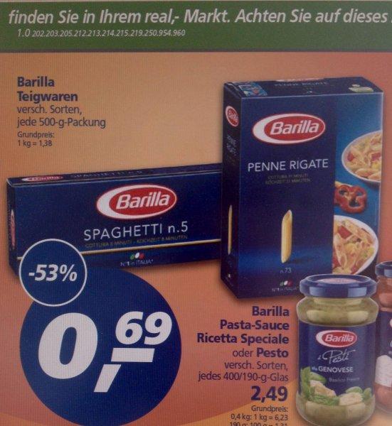 [REAL] Bundesweit:  BARILLA Nudeln 500g, verschiedene Sorten  0,69 €  (02.-07.03.15)
