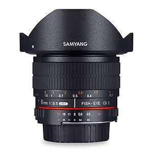 [Amazon.de] Samyang 8mm / F3,5 ASPH IF CS2-Objektiv für Pentax K (Fisheye) 29% unter Idealo