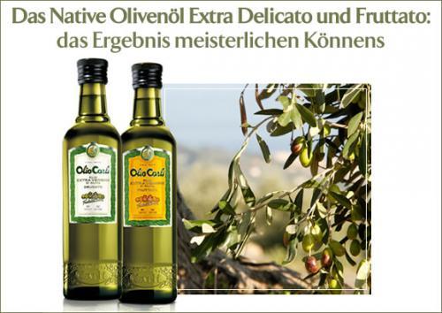 6 Flaschen ital. Olivenöl + Ölkaraffe+ Küchenschürze