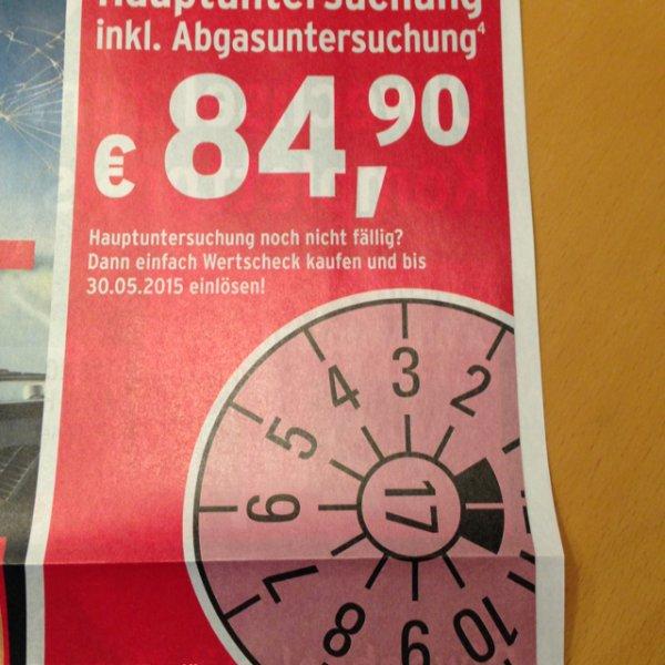 Hauptuntersuchung inkl. Abgasuntersuchung bei A.T.U für 79,90 €