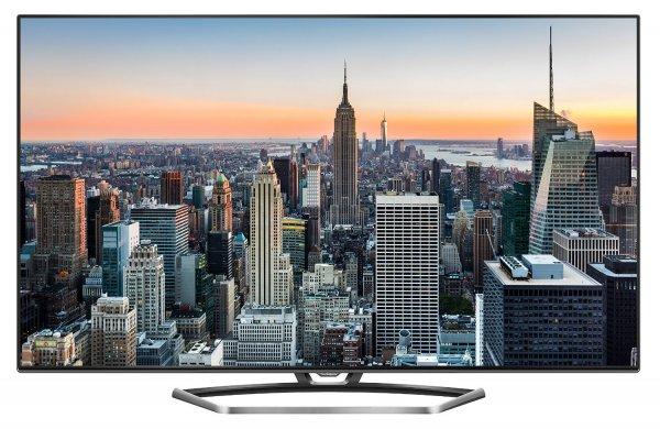 Thomson 65UZ7866 165 cm (65 Zoll) LED-Backlight Fernseher (3D, Ultra HD 4K, 400Hz CMI, DVB-T2/C/S2, CI+, 3x HDMI, 3x USB 2.0, Smart TV, HbbTV, WLAN) inkl. 2x Aktiv 3D-Brille edelstahl/schwarz für 1499€