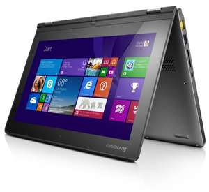 Lenovo Yoga 2-11 29,5 cm (11,6 Zoll HD LED) Convertible Ultrabook (Intel Celeron N2930, 2,16 GHz, 4GB RAM, 500GB HDD, Intel HD Graphics, Touchscreen, Win 8.1) für 319€