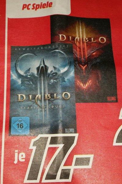 [Media Markt Berlin] Diablo 3 [PC] & Diablo 3: Reaper of Souls (Add-on) [PC] für je 17€