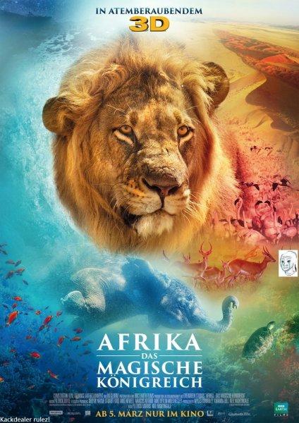 """[KINO] Sehr günstig 2 Karten für die Doku """"Afrika - Das magische Königreich 3D"""" - Berlin/Düsseldorf/FFM/Hamburg/Hannover/Leipzig/München/Stuttgart, Preview am 01.03.2015 um 15:00 Uhr"""