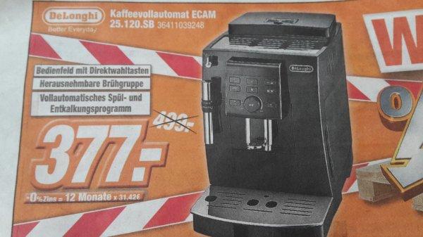 (Lokal Expert Klein) De Longhi Ecam 25120SB Kaffeevollautomat für 377 €