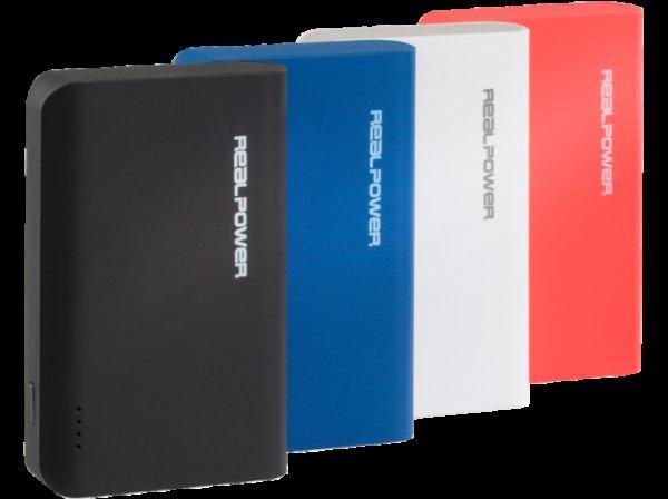 [Mediamarkt online & deutschlandweit in Filialen] 6000 mAh Powerbank REALPOWER PB-6k Color Edition für 11€