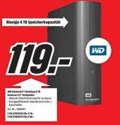 Western Digital Elements Desktop, 4 TByte für 119€ VSK-frei @ Mediamarkt.de - Externe 3,5 Zoll USB 3.0 Festplatte
