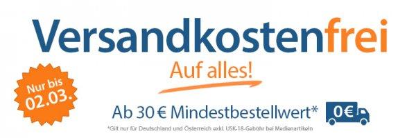 Versandkostenfreie Lieferung bei rebuy.de ab 30€ Einkaufswert (exkl. USK-18-Versand)