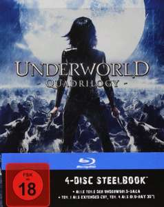 Underworld 1-4 - Steelbook [Blu-ray] für 35,97€ @Amazon.de