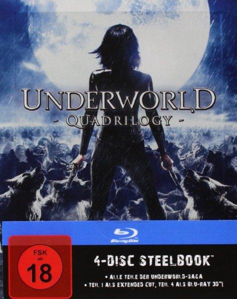 Underworld 1-4 - Steelbook [Blu-ray] für 35,97€ @Amazon.de
