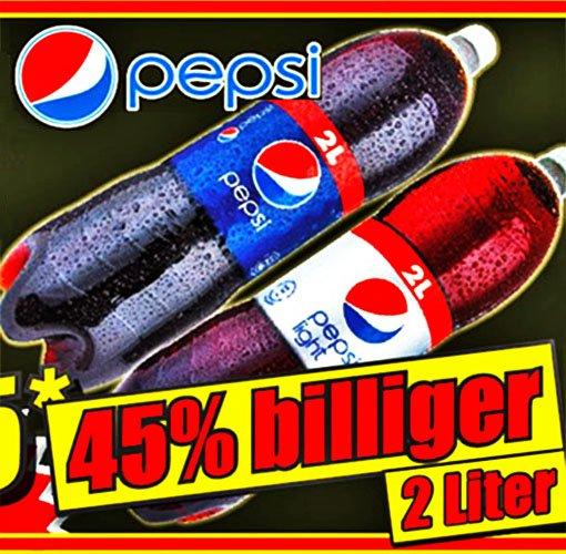 Pepsi und light die GROßE 2l-Flasche für nur 0,65€, ab Freitag den 6.3 bei [NORMA]