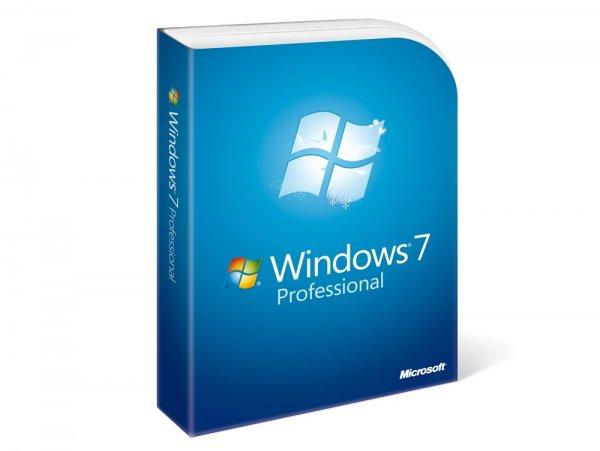 Windows 7 Professional 32/64 bit + Versand von Lizenzaufkleber und Rechnung