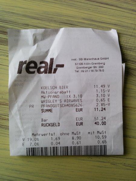 Gaffel Kölsch 20x0,5l für 10,34€ zzgl. Pfand